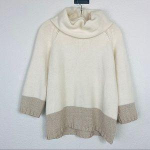 "Ann Taylor ""Winter White"" angora/wool sweater"